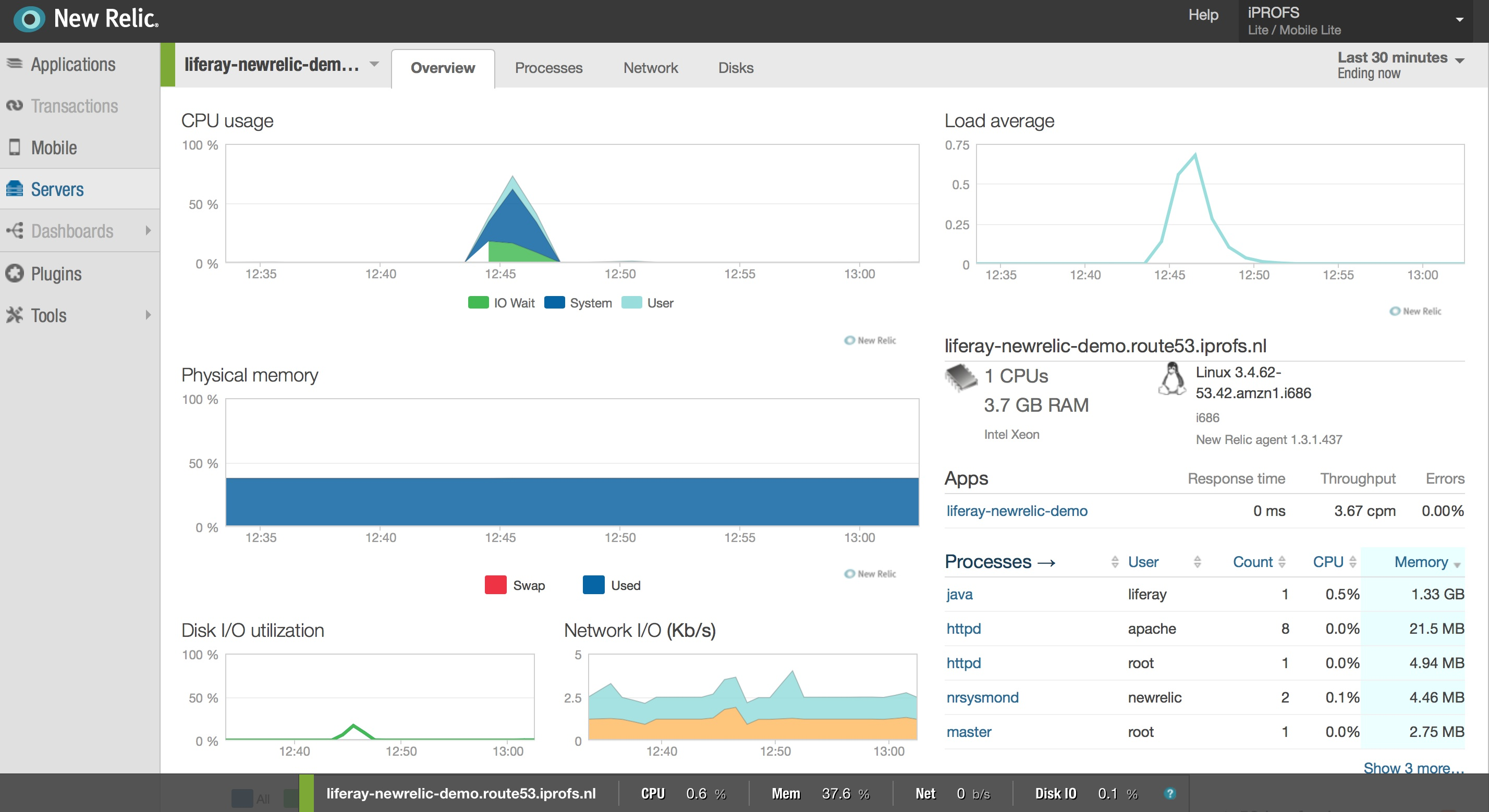Monitoring Liferay with New Relic | iPROFS Technology Blog